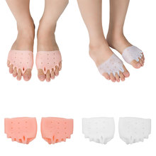 Buy Soft Silicone Toe Corrector Splint Hammer Finger Valgus gel bunion Toe Separator Cushion Pads Skin White Color Foot Care directly from merchant!