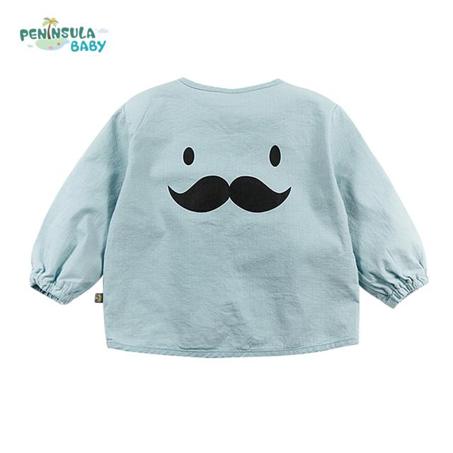 Bebê recém-nascido da menina do menino roupas dos desenhos animados infantis rosto top roupa casaco crianças primavera outono jaqueta criança outerwear crianças clothing