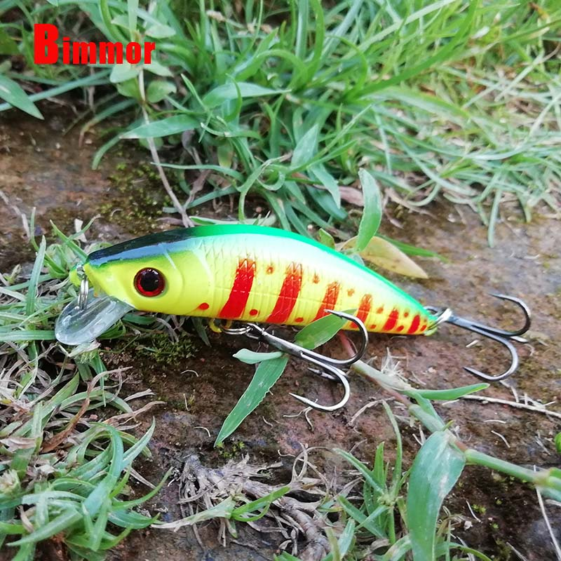 Bimmor Floating Fishing Wobbler Lures 7CM/8G Plastic Carp Minnow Hard Baits With 6# Hooks Crankbaits Fishing Tackle B002 56pcs lot mixed fishing lures bass baits crankbaits fish hooks tackle xg 2017 new fishing lure minnow