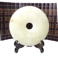 Afghanistan jade ornaments jade coin ruler buckle lucky draw furniture decoration peace 800052