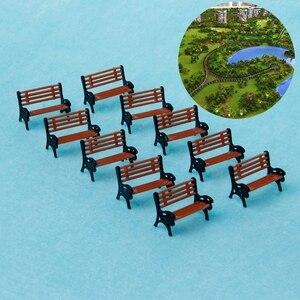 10 шт. модель поезд платформа парк уличные сиденья скамейка стул набор 1:100 хо масштаб модель поезд платформа Макет Набор Тройник