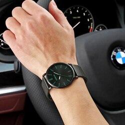 Carotif luksusowe wodoodporny Business Casual zegarki kwarcowe zegarki na rękę mężczyzna