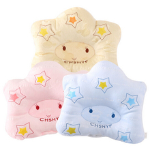 Baby pillow shape soft Infant bedding bear print oval shape100 cotton high quality 1pc fit 0