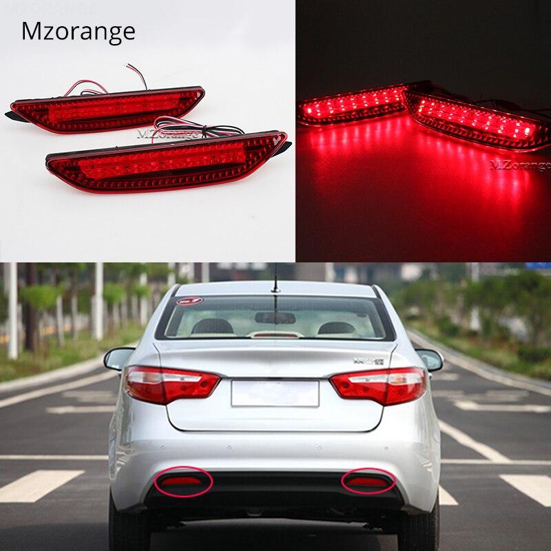 2 Pcs Car Rear Brake Lights Bumper Led Warning Lamp Tail