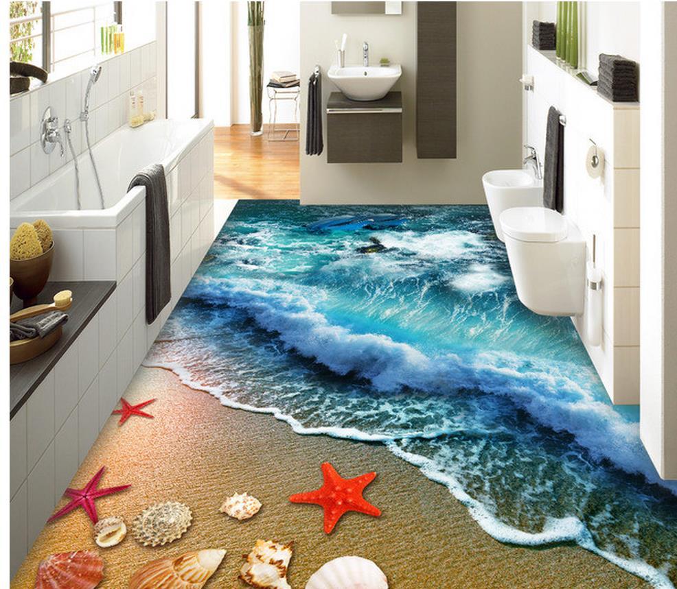 aliexpress : 3d badezimmer tapete wasserdichte strand welle, Badezimmer ideen