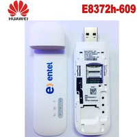 New Unlocked HUAWEI 150Mbps E8372 E8372h 607 4G LTE Wifi Modem dongle with  TS9 antenna Support B3 B7 B8 B28 B40