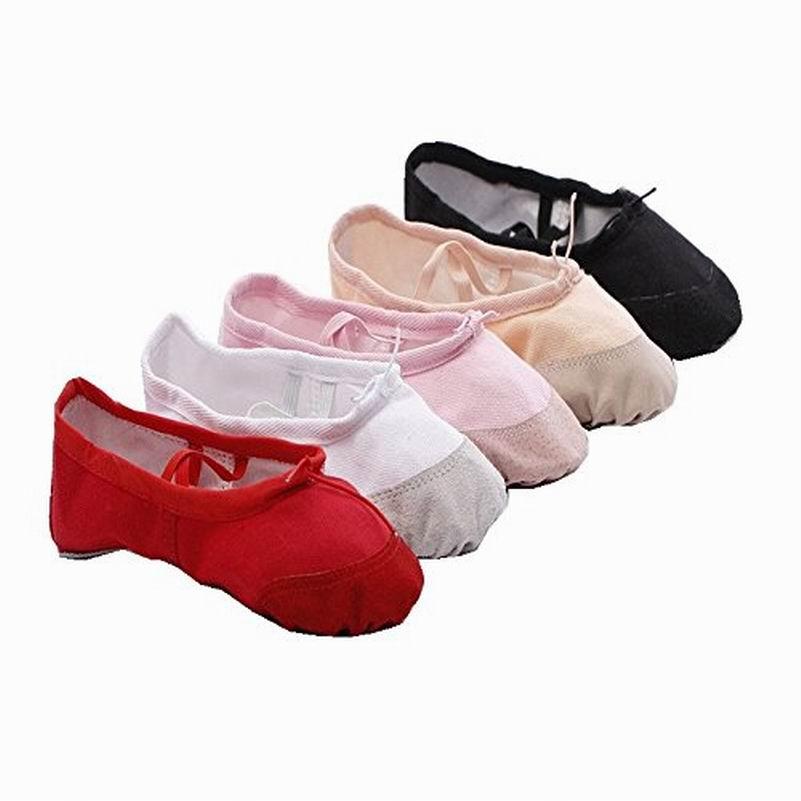Children Lady Adult Ballet Pointe Dancing Shoes Women's Professional Ballet Dance Shoes Soft Sole Ballet Shoes 4 Colors