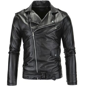 Jackets Men Fashion PU Mens Faux Leather Coats Jacket Brand Spring New Style Leather Jacket Motorcycle Jacket Male Coat