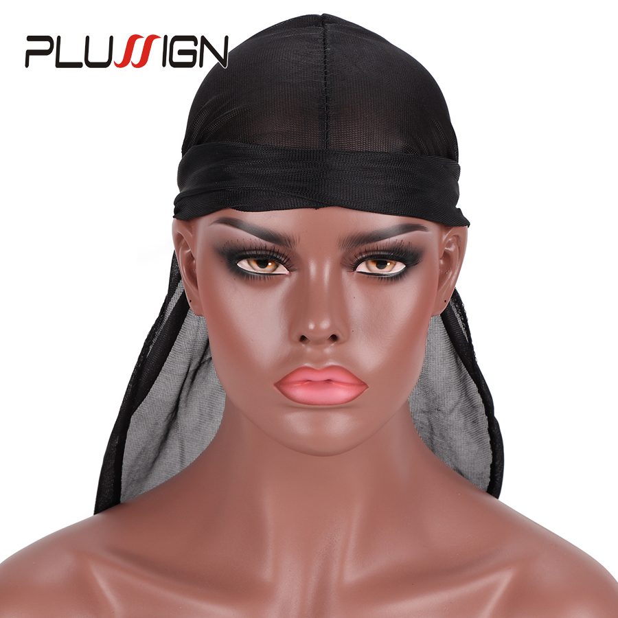 Hair Extensions & Wigs Efficient 6pcs Cheap Fashion Durag Doo Du Rag Black Colored Mane Du-rag Cap Hat Men Smooth Waves Durag Cap Long Tail Cao With Headwrap Hairnets