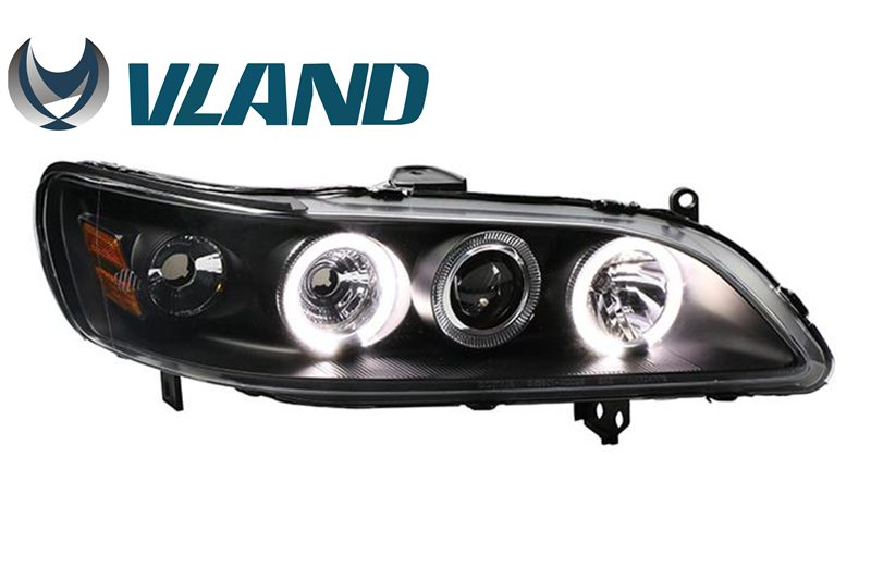 Vland factory for car headlight for Accord 6th GEN 1998-2002 LED Head light HID Xenon Head lamp Angel Eyes Plug and Play free shipping vland factory headlamp for volkswagen gol led headlight h7 xenon lamp with angel eyes led bar lamp plug and play
