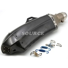 motorcycle accessories Akrapovic muffler pipe scooter exhaust pipe carbon fiber For APRILIA SHIVER / GT DORSODURO 750
