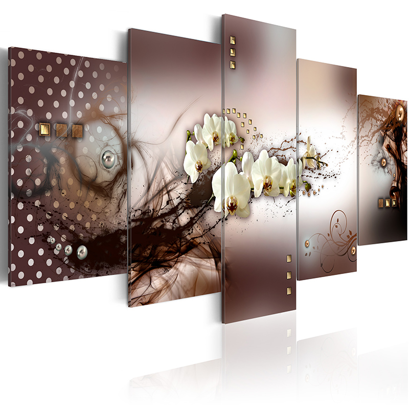 5 pieces set Abstract flower series Picture Print Painting On Canvas Wall Art Home Decor Living Room Canvas Art PJMT B 46 in Painting Calligraphy from Home Garden