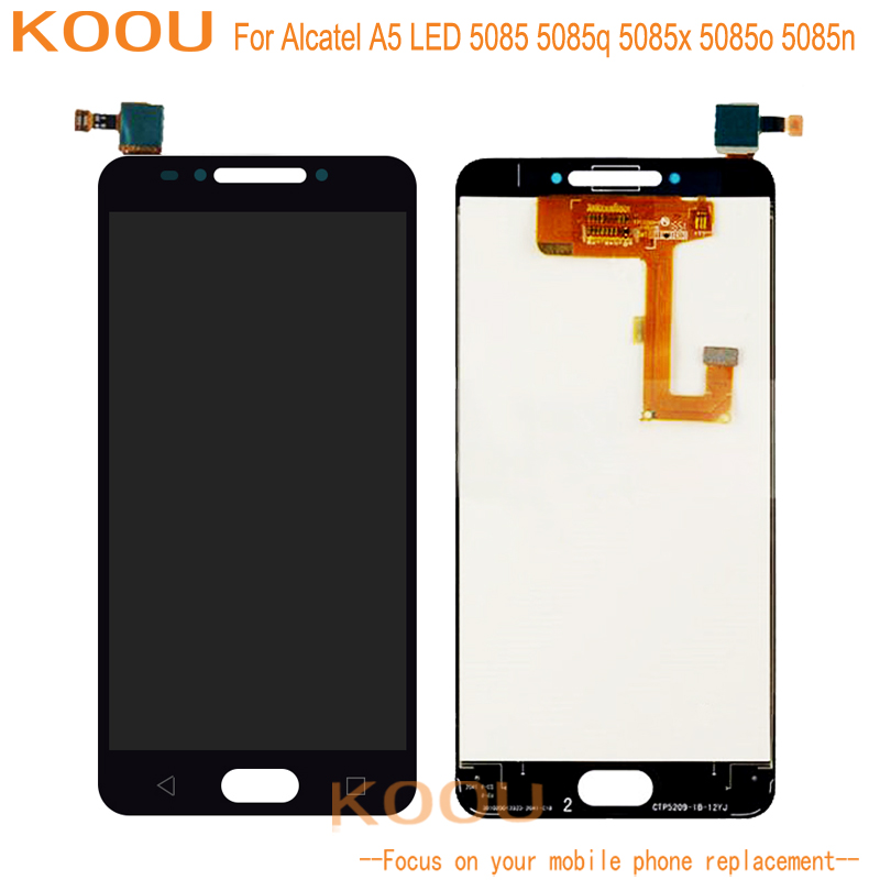 LCD Display For Alcatel A5 LED 5085 5085q 5085x 5085o 5085n Touch Screen Digitizer Assembly Replacement Mobile Phone LCDS
