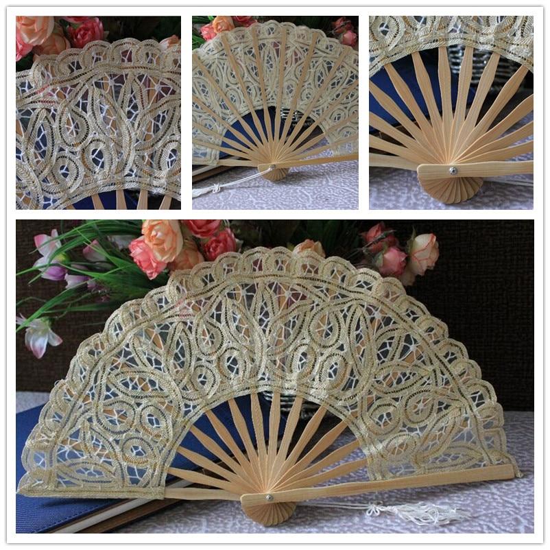 buy fashion cheap antique custom vintage fans hot sale bridal bamboo fan wedding flower cotton fan wedding lace ladies hand fans from