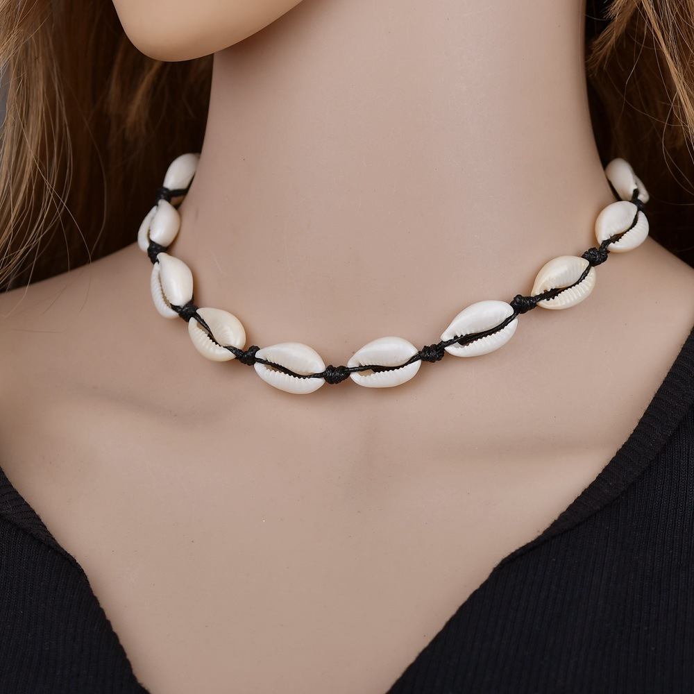 Sea Shell Choker Chain Necklac