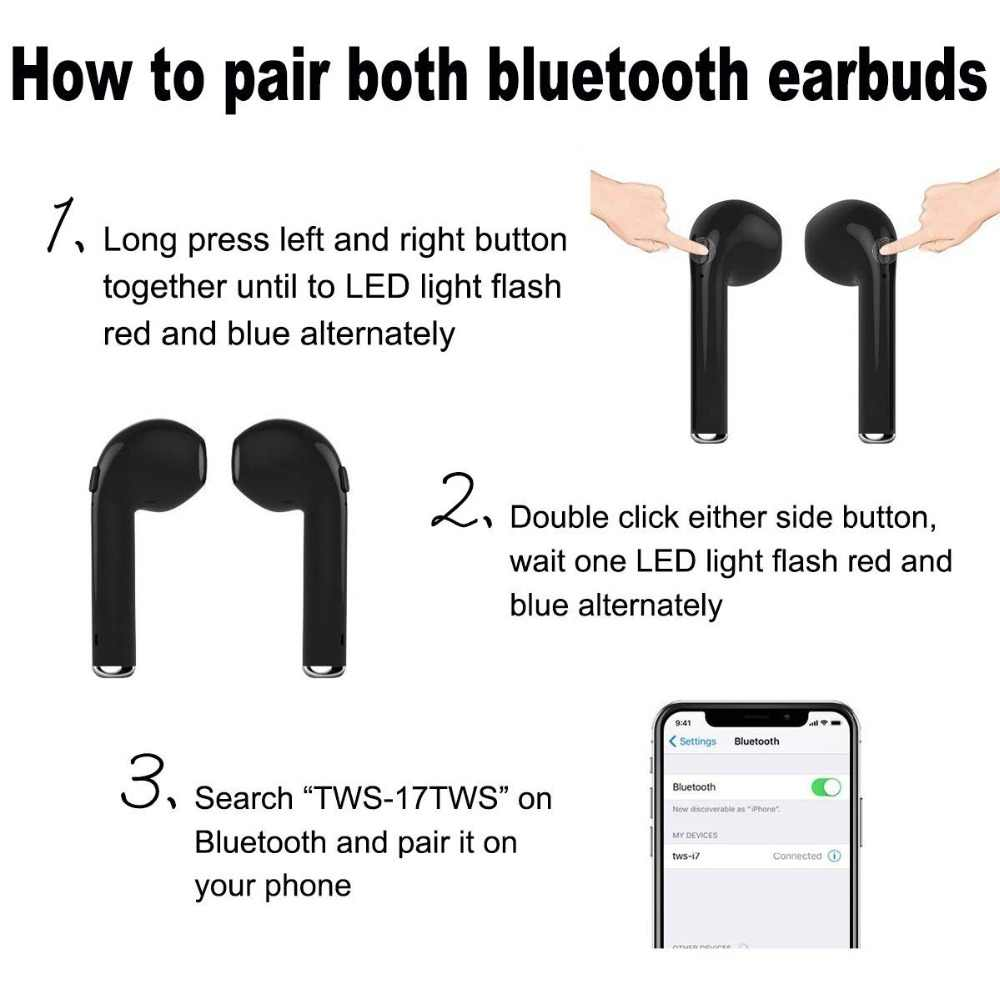 Мини Bluetooth беспроводной наушник Hands-Free в ухо наушники-вкладыши для Android samsung iphone X 8 handsfree bluetooth kulakl k