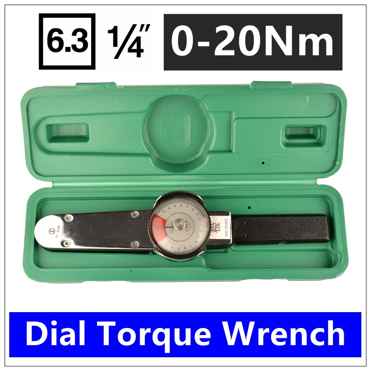 MXITA High Precision Pointer  1/4 0-20Nm Dial Repairing Tools Digital Torque Wrench