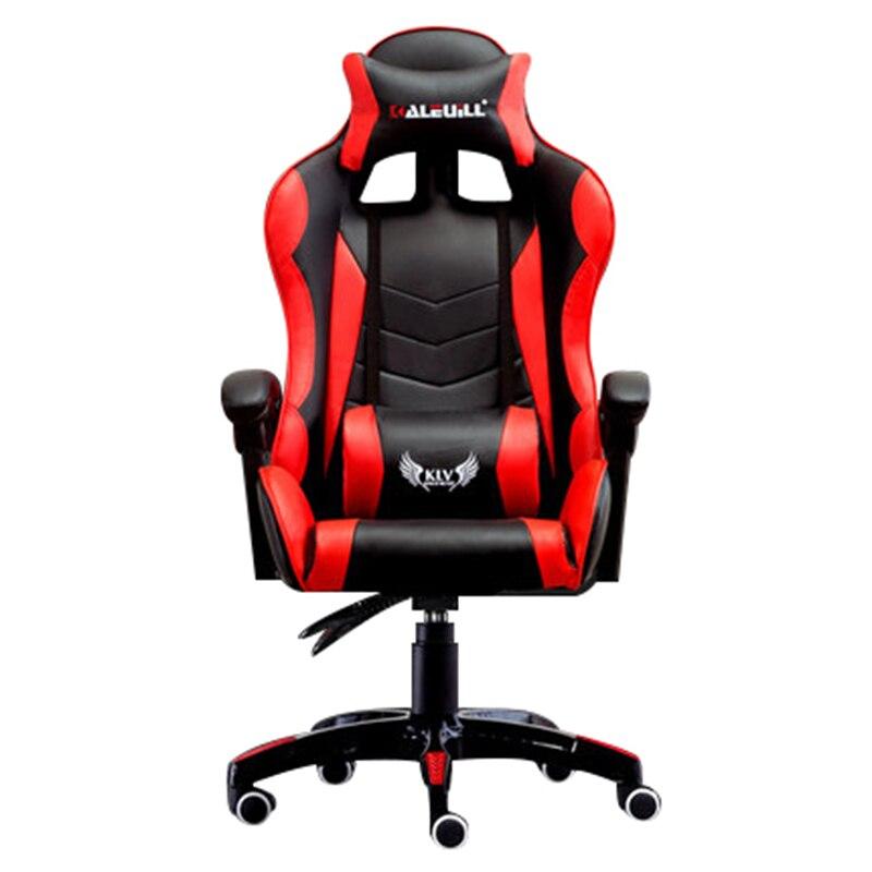 Épaississement E-Chaise de sport Racing Synthétique En Cuir Souple Cyber Jeux Internet Ordinateur Chaise Couché Ménage Bureau Nylon Chaise