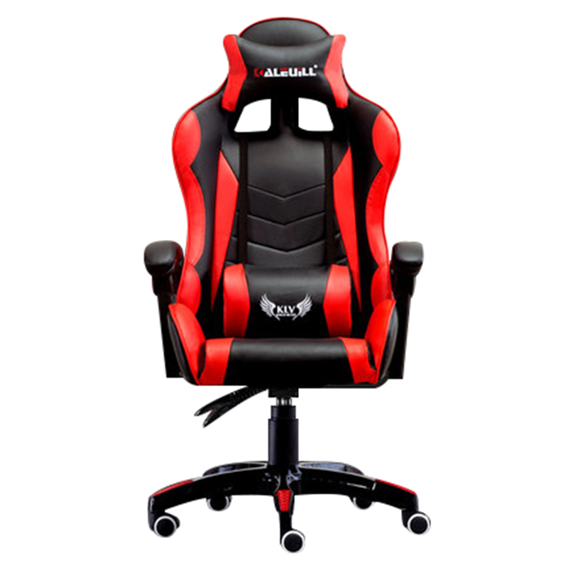 Thickening E-sports Chair Racing Synthetic Soft Leather Cyber Games Internet Computer Chair Lying Household Office Nylon Chair