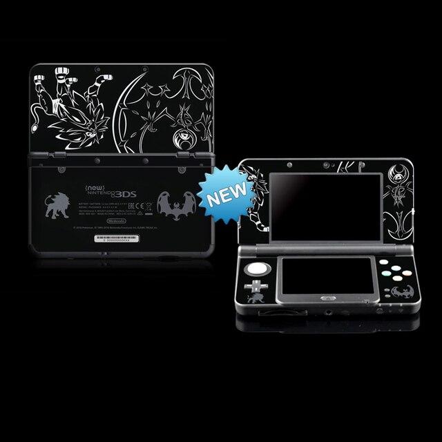 สติกเกอร์ผิวป้องกันสำหรับPokemon Sun & Moon NEW Nintendo 3DS/ใหม่ 3DSสีดำ