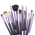 12 pcs Pincéis de Maquiagem Profissional Ferramentas de Beleza Rosto Jogo de Escova de Alta Qualidade Make Up Brush Kits