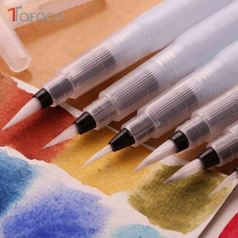 Plastic Water Storage Soft Brush Drawing Paint Watercolor Calligraphy Pen