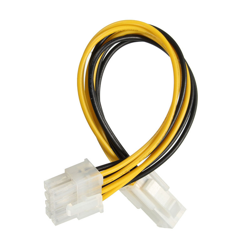 New Arrival 4 Male Pin P4 to 8 Female Pin ATX EPS PC CPU Power Convertor Adapter Cable Connectors