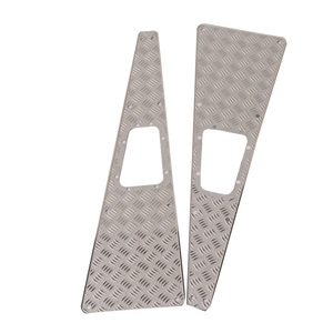2PCS Metal Anti-slip Checkered