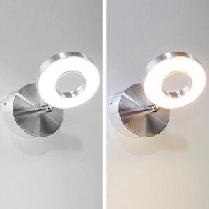 Image 5 - 5W קיר אור שינה עם מתג LED Selfie טבעת אור מקורה קיר Lapms עבור איפור בית מלון המיטה קריאת ספר אורות
