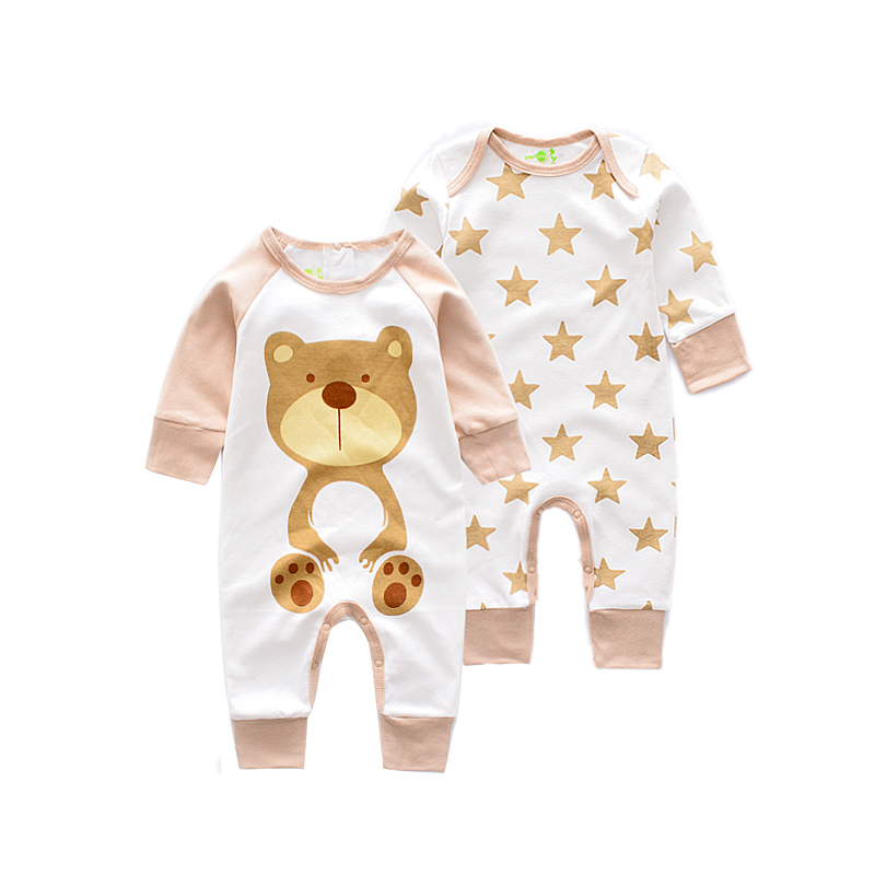Long sleeve baby   Romper   Baby boy Jumpsuit newborn Cartoon Animal   rompers   infant newborn long sleeve   Rompers   baby cotton Jumpsuit