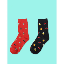 Women's autumn winter casual cotton crew socks fruit cartoon food watermelon banana breathable socks funny happy cute tide socks women s autumn winter casual cotton crew socks fruit cartoon food watermelon banana breathable socks funny happy cute tide socks