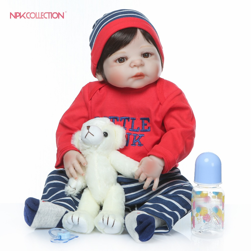 full body silicone New Reborn Baby Dolls Realistic Girl Princess 23inch Baby Dolls Alive Reborns Toddler