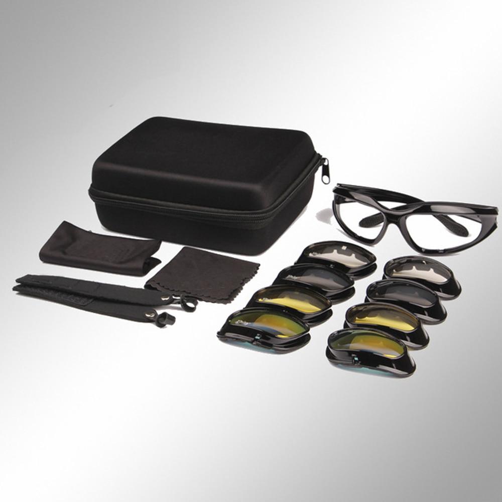 Sivatagi napszemüvegek Taktikai vadászszemüvegek Outdoor Sports Airsoft szemüvegek UV400 szemüveg