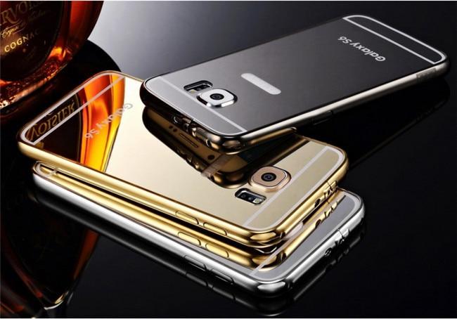 online store ba8bd 3f8cc US $539.0 |DHL 50pcs/lot Mirror Case For Samsung Galaxy S6 Aluminum Metal  Case Cover Acrylic Mirror Surface Hard Case For Galaxy S6 on Aliexpress.com  ...