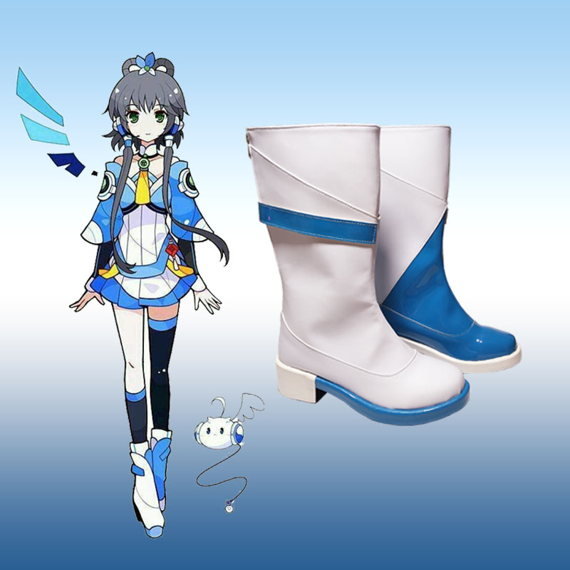 VOCALOID Luo Tianyi <font><b>lolita</b></font> <font><b>shoes</b></font> Cosplay Women High Heel <font><b>Shoes</b></font> Ladies fashion leisure cartoon PU leather <font><b>shoes</b></font> image
