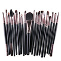 20 Pcs Professional Soft Cosmetics Beauty Make up Brushes Set Kabuki Kit Tools maquiagem Makeup Brushes 16 Color