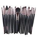 20 Pcs Professional Suave Cosméticos Beleza Make up Brushes Set Ferramentas Kit de maquiagem Kabuki Pincéis de Maquiagem 16 Cores