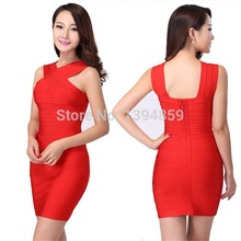 2016 new fashion high quality sleeveless Spitze abend bodycon bandge kleid v mini verband-kleid AA-491
