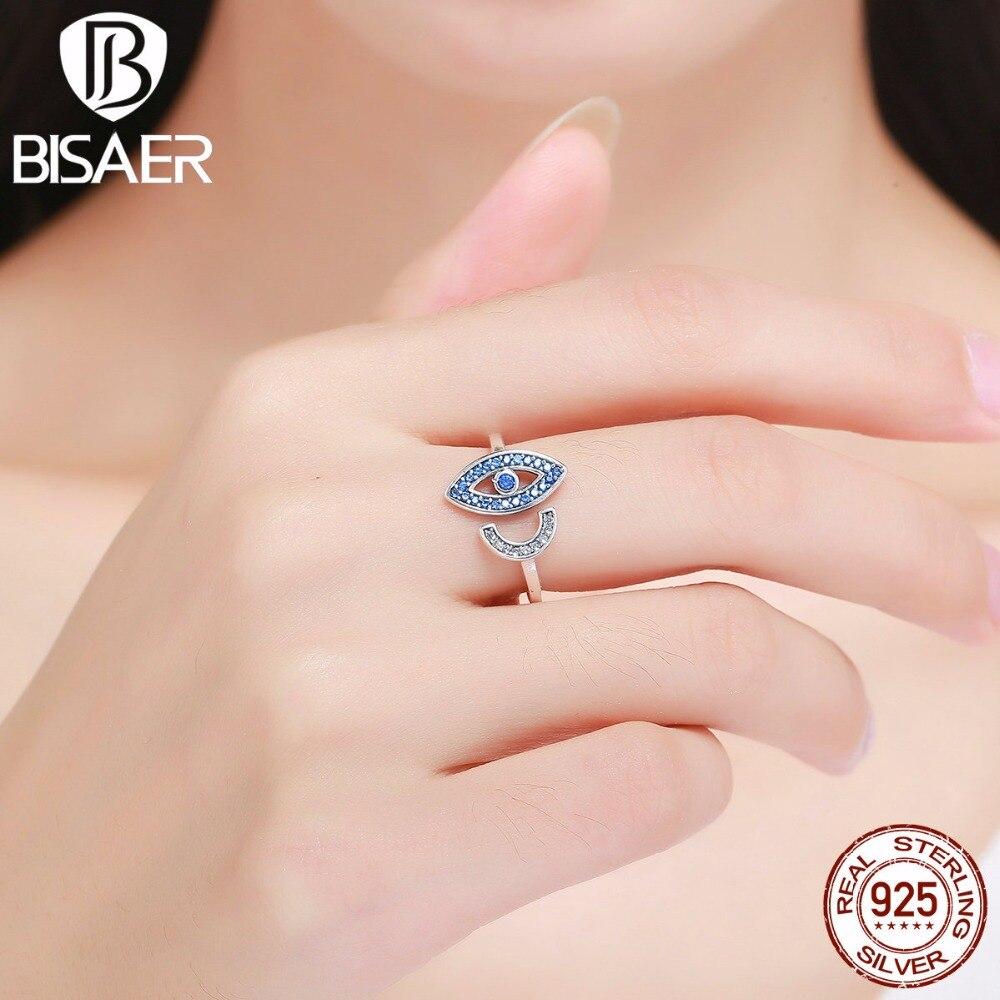 Uloveido Evil Eye Rings for Women Engagement Cubic Zirconia Female ...
