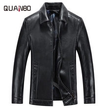 Spring and Autumn Quality Men Genuine Leather Jacket Business Casual Sheep skin