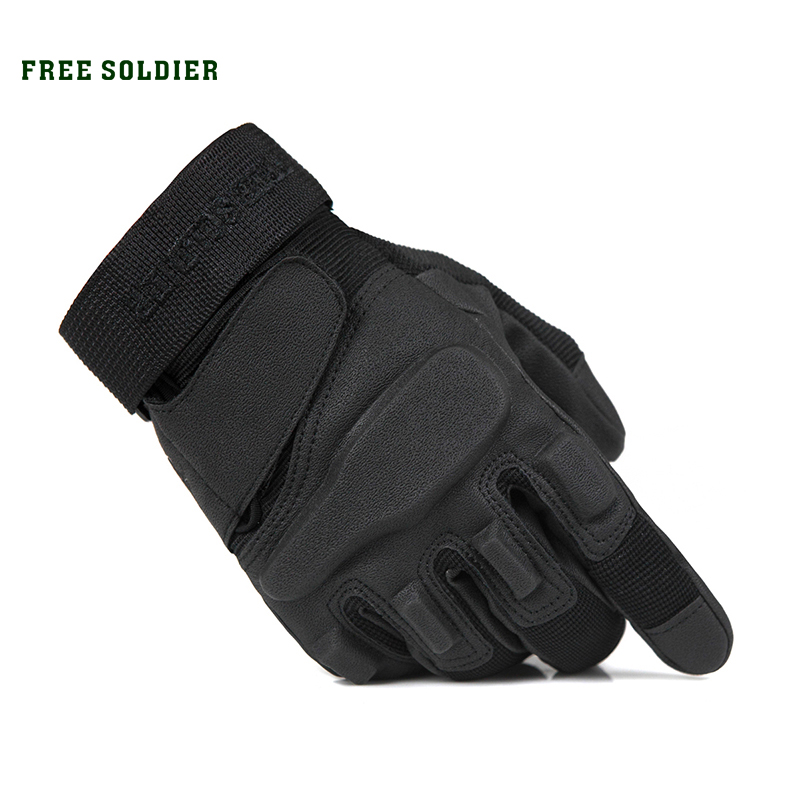 FREE SOLDIER Outdoor Sports HikingmTraining Tactical Gloves Wear-Resisting Antiskid Cycling Gloves Gull Finger For Male Upgrade