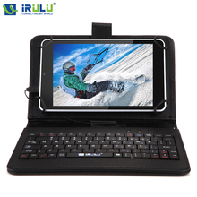 Irulu expro x4 7 »1g + 16 г таблетки android 5.1 quad core ips Tablet PC Двойная Камера 2-МЕГАПИКСЕЛЬНАЯ Bluetooth Wi-Fi 4000 мАч с RU Клавиатура случае
