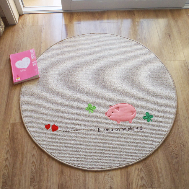 Cute Pig Floor Mat For Sleeping Durable Children Room Carpet Cartoon