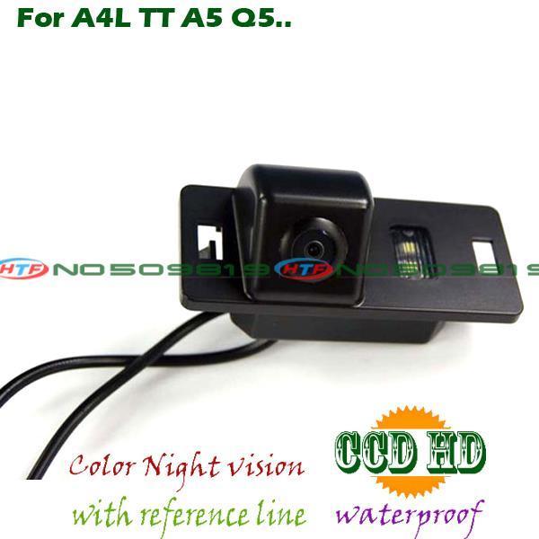 Fio do carro sem fio rear view camera reversa backup para sony ccd audi S6 Q3 Q5 A1 A5 A6 A7 A4L TT A5 RS5 estacionamento câmera