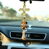 The Cross of Christ car pendant Jesus Hanging Ornament car peace crystal Car Interior Decoration Accessories