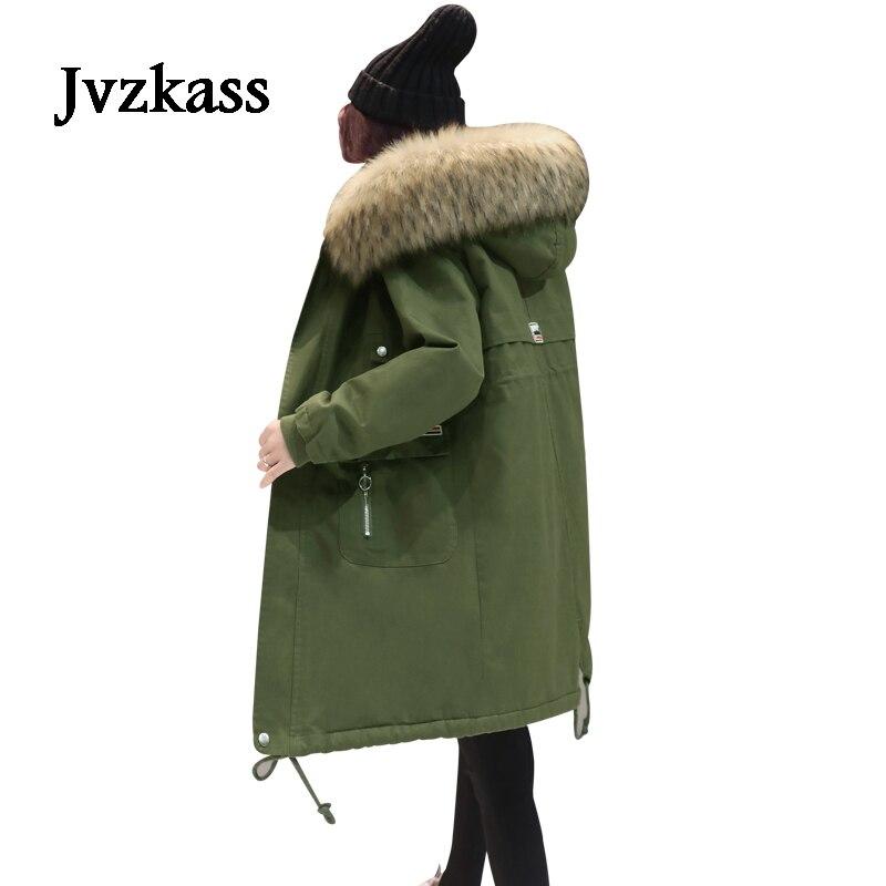 Jvzkass Manteau Nouvelle Parka Veste Vestes Vente Z34 Army Longue red Chaude Femmes Green navy D'hiver Coton Rembourré Femelle Hiver Section 2018 0wvmN8n