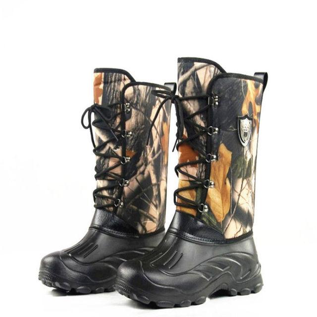 Warme Schnee Stiefel Knie High Military Tactical Camo Wellington Stiefel Outdoor Camo Wasserdicht Wandern Camping Jagd Angeln Schuhe