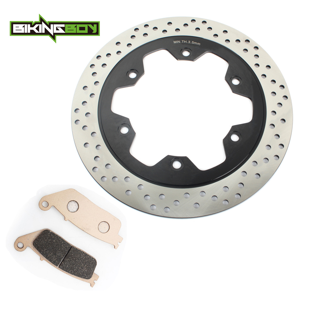 BIKINGBOY 320mm Front Brake Disc Disk Rotor Pads Wave Set for HONDA VT 750 C DC Shadow Spirit 01 02 VT 750 Shadow Aero 04-12 bikingboy front brake disc rotor for honda vf 250 v twin magna nt hawk gt 650 ntv revere 650 vf shadow 750 ace aero 1100 88 2007