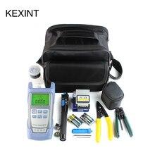 KEXINT FTTH fibra ottica tool kit con FC 6S cleaver e visual fault locator wire stripper strumento