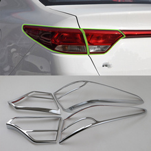 цена на Car Accessories Exterior Decoration ABS Chrome Rear Tail Light Lamp Cover Trim For Kia K2/Rio 2017 Car Styling